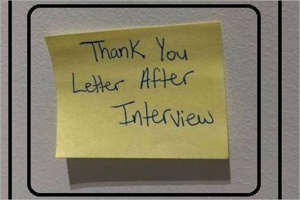 Interview Thank You Card Template