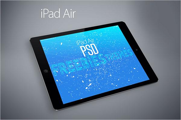 Ipad Air Mockup Sample Design