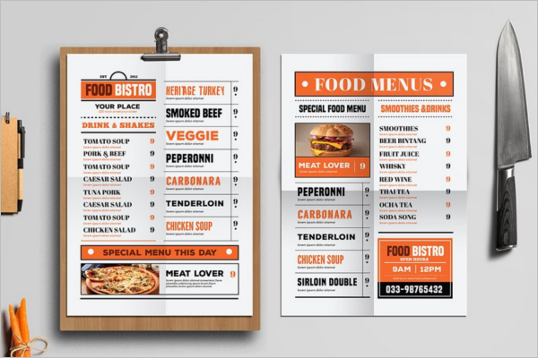 Island Food Menu Template
