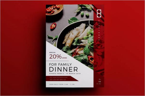 Japanese Restaurant Flyer Design