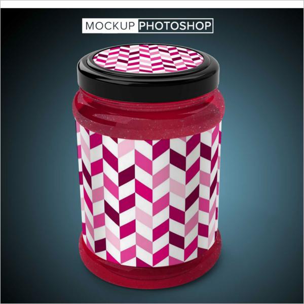 Jar Mockup Free Vector