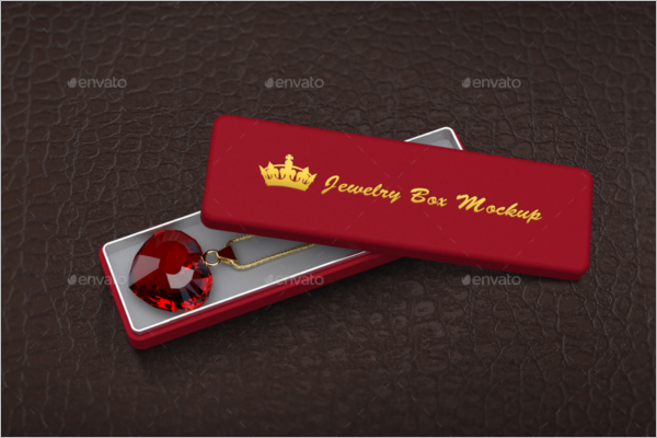 Jewelry Box Mockup With Logo Design