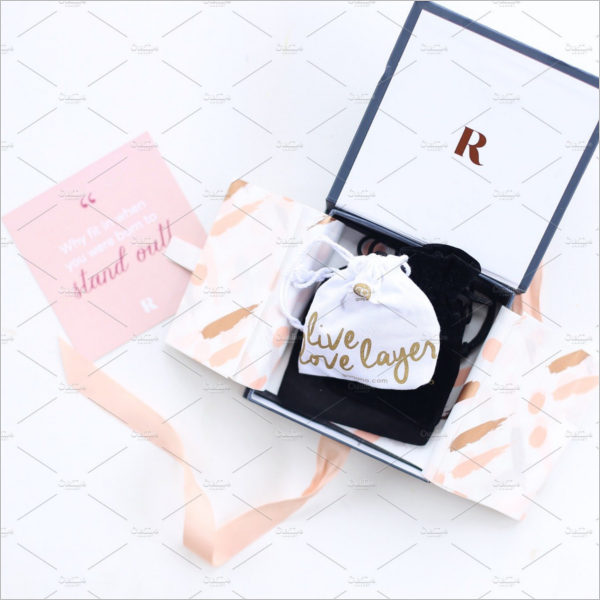 Jewelry Box With Tag Mockup
