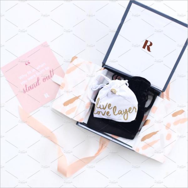 Jewelry Box With Tag Mockup