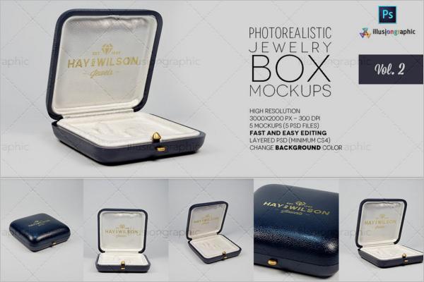 Jewelry Mockup Box