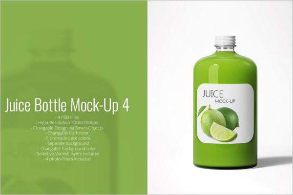 Juice Bottle Mockup Best Design