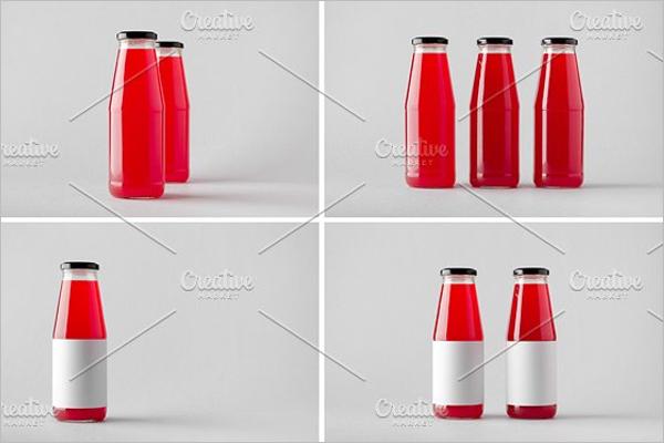 Juice Bottle Mockup Bundle Design