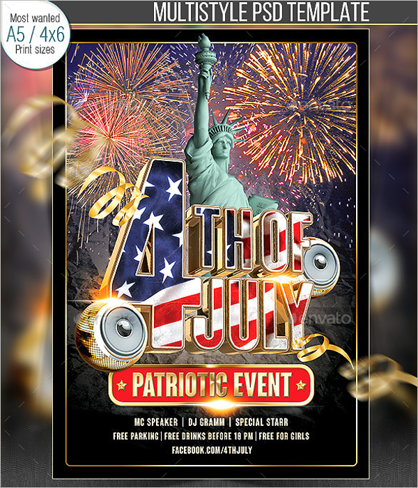 July Party Flyer Template