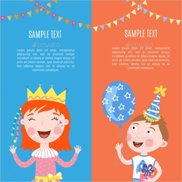 Kids Birthday Banner Template