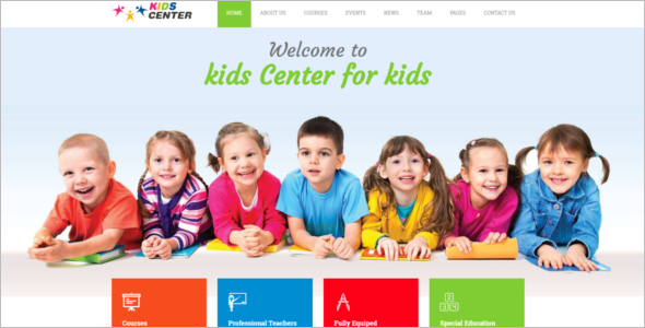Kids Bootstrap Design Template