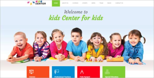 KidsBootstrap Design Template