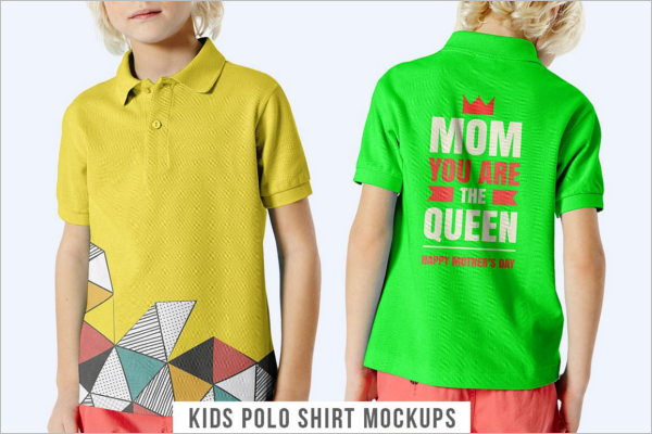 Kids Polo Shirt Mockup