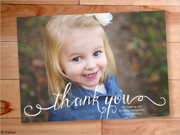 Kids Thank You Card Design