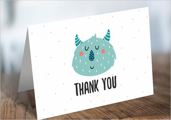 Kids Thank You Card PDF
