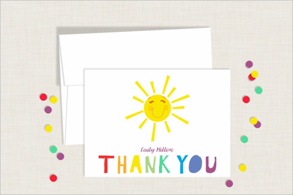 Kids Thank You Card Template