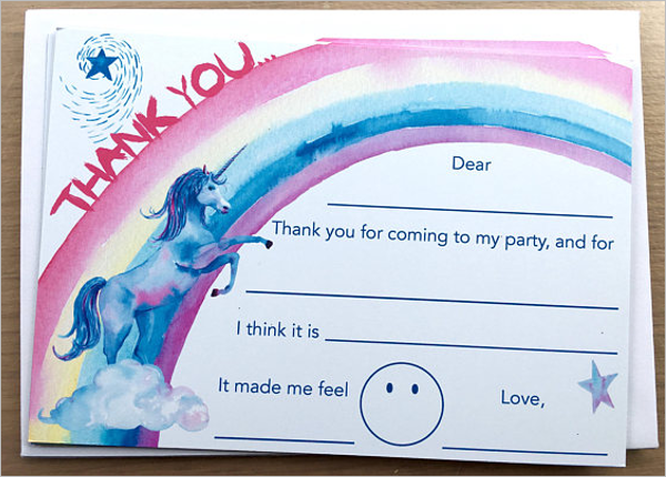 Kids Thank You Note Card Design