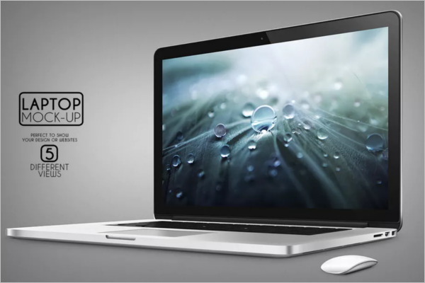 Laptop Mockup Clean Template