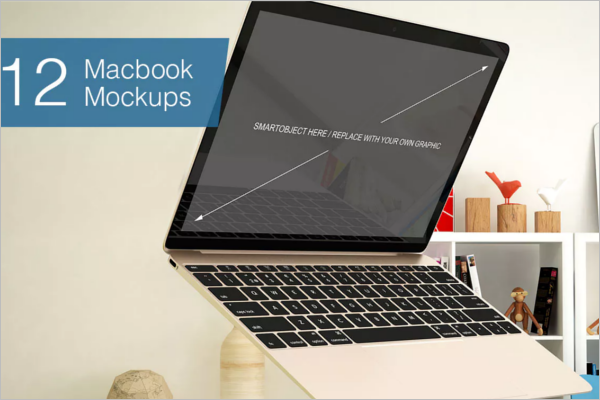 Laptop Mockup Elegant Design
