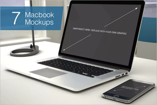 Laptop Mockup PSD Template