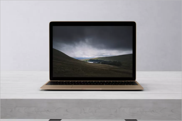 Laptop Mockup Screen Design
