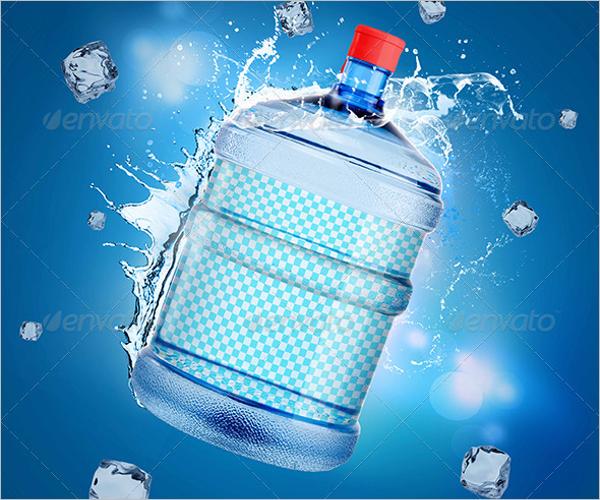 Large Water Bottle Mockup