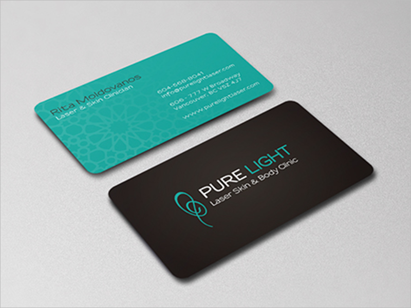 Laser Clinic Business Card Design