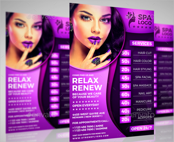 Latest Beauty Salon Flyer Template