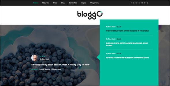 Latest Blog Design Template