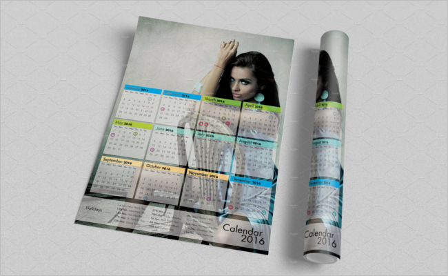 Latest Calender Mockup Template