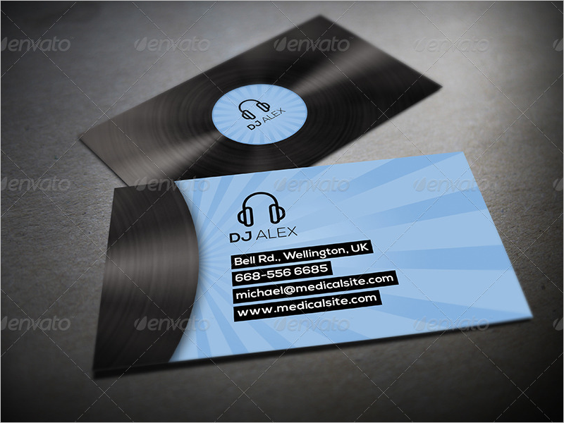 latest dj business card design - Dj Business Cards