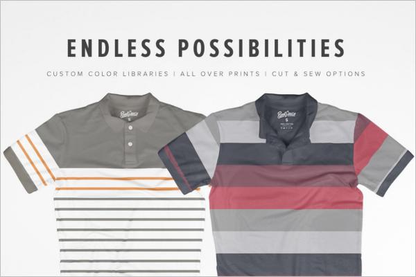 Latest Polo t-shirt Mockup