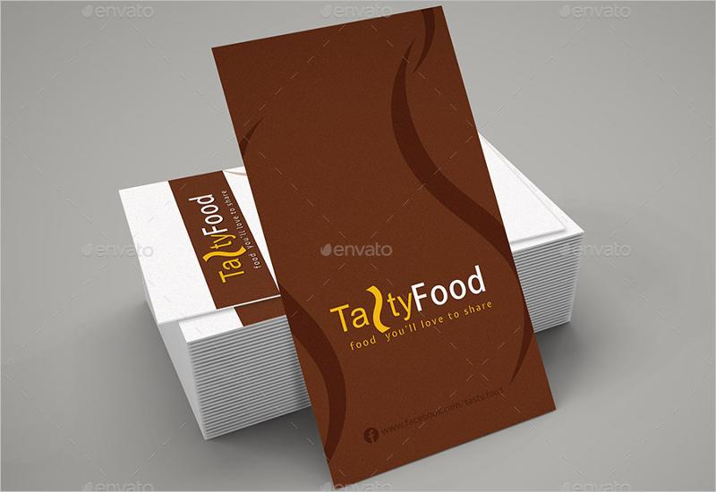 Latest Restaurant Business Card Design