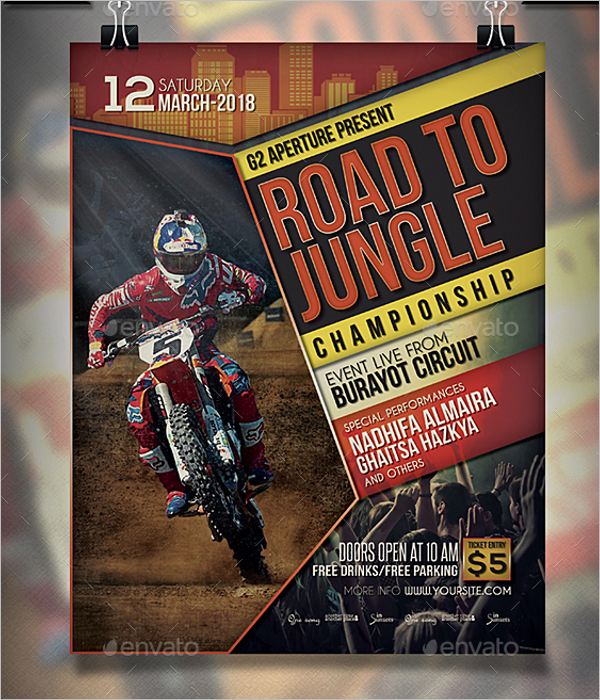 Latest Sports Event Flyer Template