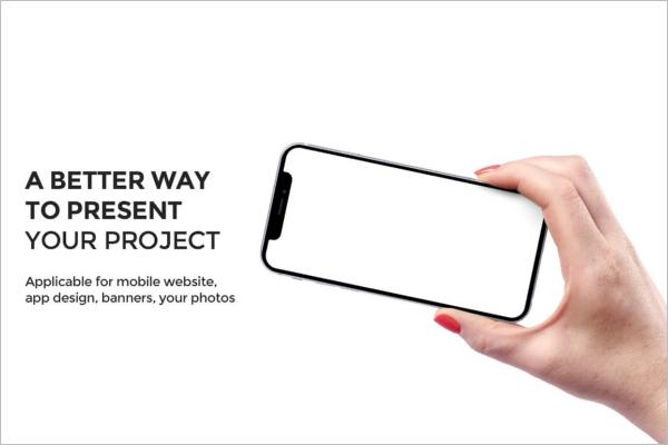 Latest iPhone X Mockup Design
