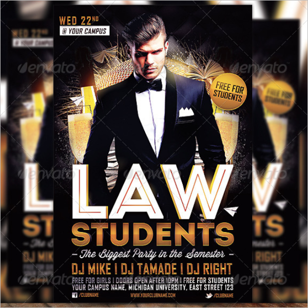 Law Student Flyer Template