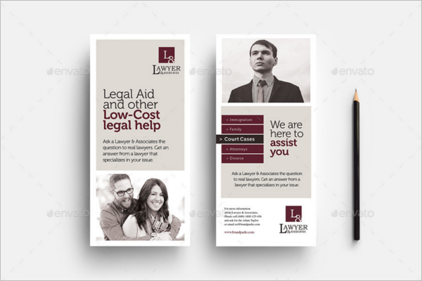 Legal Rack Card Template