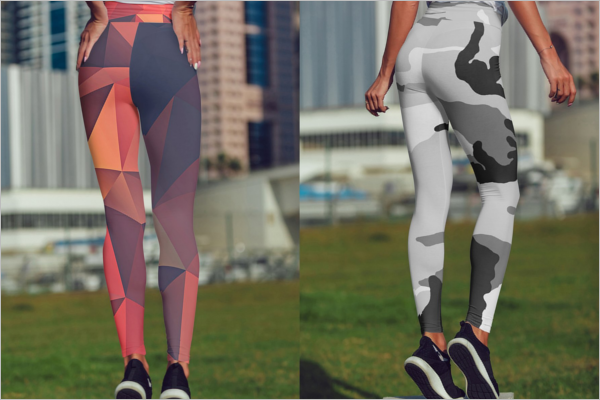 Legging Mockup Clean Design