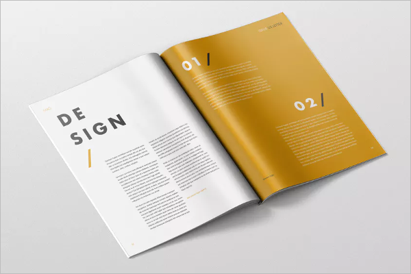 Letter Magazine Mockup Photoshop Design
