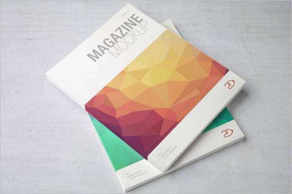 Letter Size Magazine Mockup Design