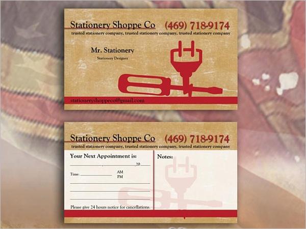 Licensed Electrician Business Card Design