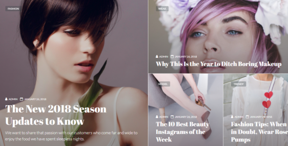 Lifestyle Blog Design Template