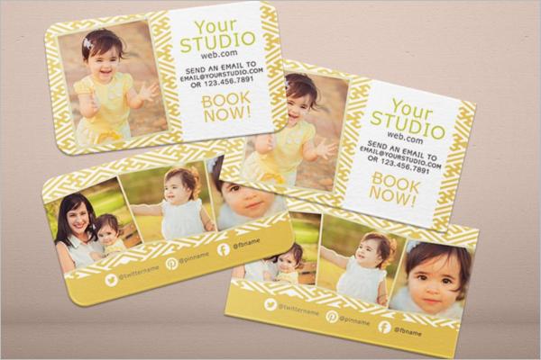 Light Yellow Business Card Template