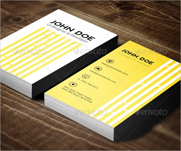 LightYellow Business Card Template