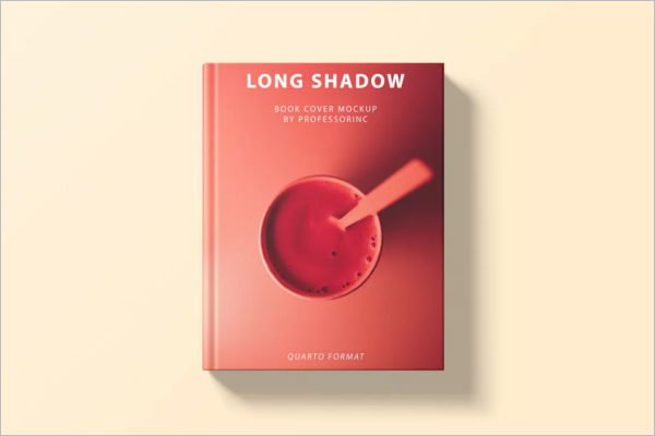 Long Book Cover Mockup Template