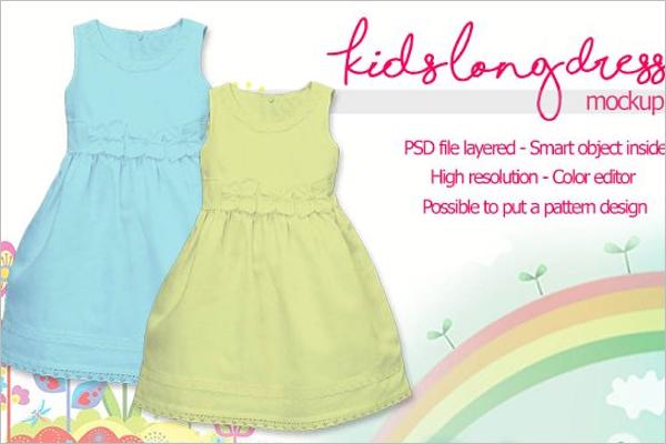 Long Dress Design Template
