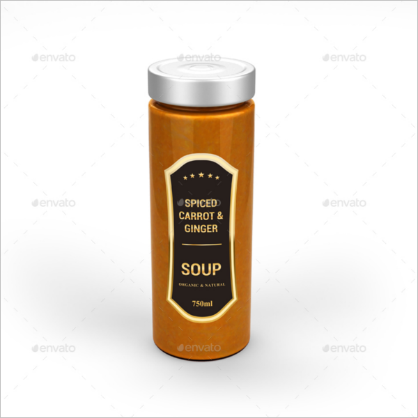 Long Jar Mockup Design