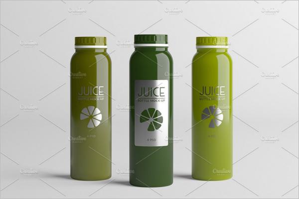 Long Juice Bottle Mockup Design