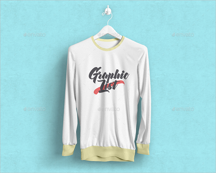 Long Sleeve T-Shirt Mockup Design