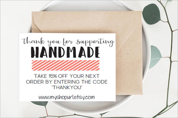 Loyalty Thank You Business Card Template