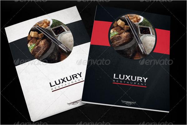 Luxury Restaurant Menu Design Template